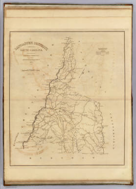 Lancaster District, South Carolina. / Mills, Robert / 1825