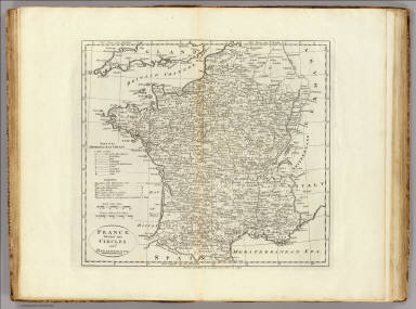 France Divided into Circles and Departments. / Carey, Mathew / 1796