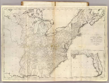 Of The United States Carey Mathew - Us map 1796