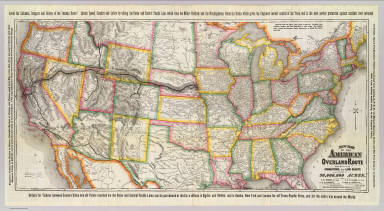 New map of the American Overland Route showing its connections, and land grants of 30,000,000 acres. Rand, McNally & Co., Chicago. (1879)