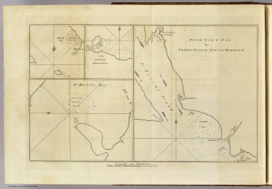 From York Bay to Three Island Bay and Harbour. (with) Elizabeth Bay. (with) A bay under the islands opposite York Road. (with) St. Davids Bay. (London: printed for W. Strahan, and T. Cadell in the Strand, MDCCLXXIII)