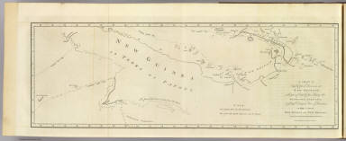 A chart of Captn. Carteret's discoveries at New Britain, with part of Captn. Cooke's passage thro Endeavor Streights, & of Captn. Dampier's tract & discoveries in 1699, & 1700, at New Guinea and New Britain. Engraved by W. Whitchurch, Pleasant Row, Islington. (London: printed for W. Strahan, and T. Cadell in the Strand, MDCCLXXIII).