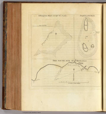 A dangerous shoal seen Septr. the 28, 1767. (with) Joseph Freewills Islands. (with) The south end of Mindanao. (London: printed for W. Strahan, and T. Cadell in the Strand, MDCCLXXIII).