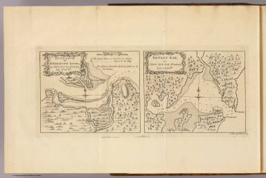Entrance of Endeavour River in New South Wales. Botany Bay in New South Wales. J. Gibson & T. Bowen sculp. (London: printed for W. Strahan, and T. Cadell in the Strand, MDCCLXXIII).