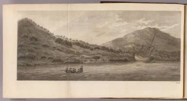 (A view of the Endeavour River, on the coast of New Holland, where the ship was laid on shore, in order to repair the damage which she received on the rock). Will Byrne sculp. No. 19. (London: printed for W. Strahan, and T. Cadell in the Strand, MDCCLXXIII).