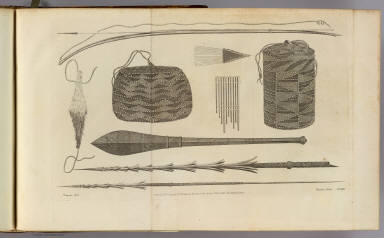 (Ornaments, utensils and weapons at the Friendly Isles). Chapman, del. Record, sculp. No. XXI. Published Febry. 1st, 1777 by Wm. Strahan in New Street, Shoe Lane & Thos. Cadell in the Strand, London.