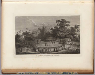 The reception of Captain Cook, in Hapaee. J. Webber del. Heath sculp. (London, G. Nicol and T. Cadell, 1785)