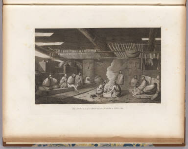 The inside of a house in Nootka Sound. J. Webber del. W. Sharp sculp. (London, G. Nicol and T. Cadell, 1785)