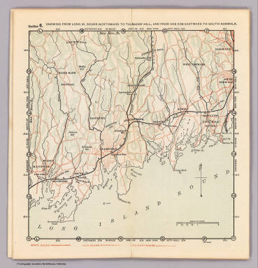 Section 6. Showing from Long Id. Sound northward to Talmadge Hill, and from Cos Cob eastward to South Norwalk. (1902)