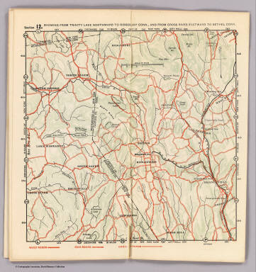 Section 12. Showing from Trinity Lake northward to Ridgebury, Conn., and from Cross River eastward to Bethel, Conn.. (1902)