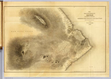 Map of Part of the Island of Hawaii, Sandwich Islands. / United States Exploring Expedition (1838-1842); Wilkes, Charles, 1798-1877 / 1841