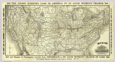Map of the Ohio and Mississippi Railway and connections. Rand, McNally & Co., Engravers, Chicago ... (1883)