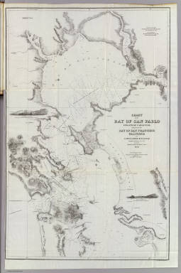 Chart of the Bay of San Pablo Straits Of Carquines and part of the Bay of San Francisco California By Cadwalader Ringgold Commander, U.S. Navy. Assisted by Simon F. Blunt, Lieut. U.S.N. 1850. Projected, Constructed & Drawn by Fred. D. Stuart, Hydrographer, late of the U.S. Ex.Ex. Assisted by A.H. Campbell, Civil Engineer. Entered ... 1851, by Cadwalader Ringgold ... District of Columbia. C.B. Graham, Lithr. Washington, D.C.