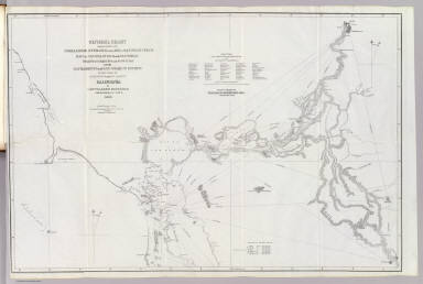 General chart embracing surveys of the Farallones, entrance to the Bay of San Francisco, bays of San Francisco and San Pablo, Straits of Carquines and Suisun Bay and the Sacramento and San Joaquin rivers to the cities of Sacramento and San Joaquin, California by Cadwalader Ringgold, Commander, U.S. Navy. 1850. Constructed, projected and drawn by Fred. D. Stuart, hydrographer, late of the U.S. Ex. Ex., assisted by Chas. Everett, Jr., draughtsman. Entered ... 1851, by Cadwalader Ringgold ... District of Columbia.
