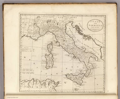 Italy, and Sardinia, from the best Authorities. Tiebout, New York. Engraved for Carey's American Edition of Guthrie's Geography improved.