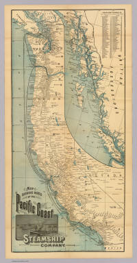 Map showing routes of the Pacific Coast Steamship Company. Rand, McNally & Co., engr's, Chicago.