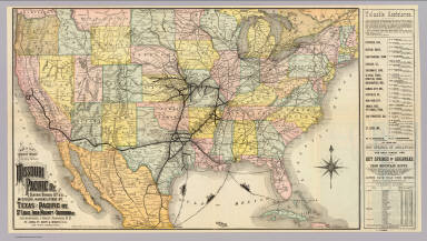 Iron Mountain Route. / St. Louis, Iron Mountain, and Southern Railway Company; Rand McNally and Company / 1886