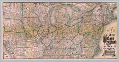 Map of the Great Wabash System. Wabash St. Louis & Pacific Ry. Operating 2500 miles of road. Rand, McNally & Co., Printers and Engravers, Chicago. (inset) Map showing Pacific Coast and southwestern connections.
