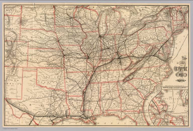Map of the Chesapeake and Ohio route. Matthews, Northrup & Co., Art-Printing Works, Buffalo, N.Y. (inset) Newport News, Old Point Comfort, and vicinity.