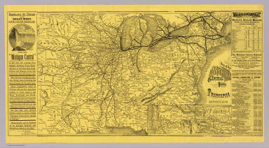 Map of the Michigan Central Railroad principal connections. Rand, McNally & Co. Engravers, Chicago.
