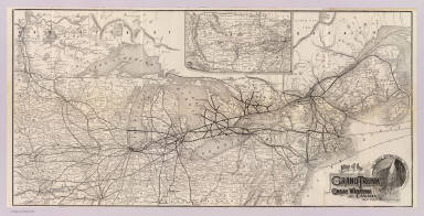 Map of the Grand Trunk and Great Western of Canada, and their connections. The Great International Route. (1885)