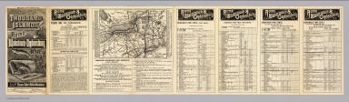 Map of the Rome, Watertown and Ogdensburg Railroad.