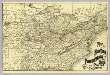 Map Of New York And Ohio.N Y Penn And Ohio R R New York Lake Erie And Western
