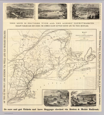 Map of the Boston & Maine Railroad and its connections, 1879.