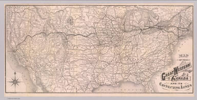 Map of the Great Western Railway of Canada and its connecting lines. Rand, McNally & Co., Engravers, Chicago. (1881)