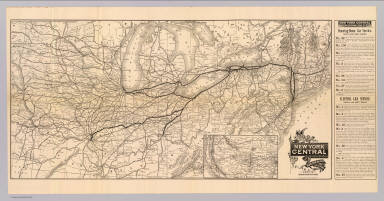 Map of the New York Central and Hudson River Railroad and its connections. Eng'd by American Bank Note Co. New York. (1885)