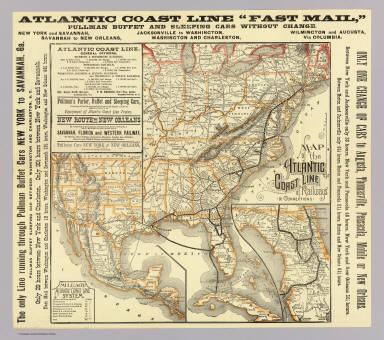 Atlantic Coast Florida Map.Map Atlantic Coast Line Atlantic Coast Line Railroad
