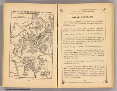 Map of the White Mountains and vicinity. (Boston: Frank Wood, 1879)