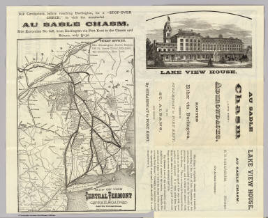 Map Central Vt. RR. / Central Vermont Railroad Company / 1879