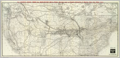 Map of the Burlington Route and connections. Poole Bros. Chicago. 5-20-'07 ... (inset map) Direct routes to the Orient. Great Northern Steamship Co. and Chicago, Burlington & Quincy Railway Company.