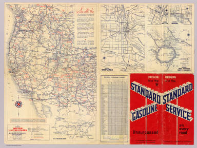 Road Map HM Gousha Company Standard Oil Company Of - Oregon road maps
