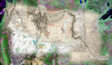(Lewis and Clark Expedition 200th anniversary mosaic by David Rumsey and Telemorphic, Inc.). Copyright 2002 Cartography Associates and Telemorphic, Inc.