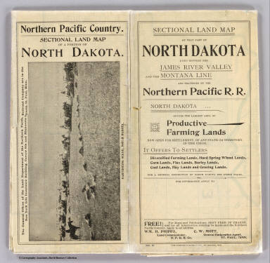 (Covers to) Map showing surveyed portion of land grant of Northern Pacific Railroad Company from Jamestown, North Dakota, to Montana boundary line ... (1895)