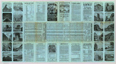 (Text Page to) Union and Central Pacific Railroad Line. The Great American Over-land Route. Rand, McNally & Co., Printers, Engravers and Electrotypers, 77 and 79 Madison Street, Chicago.