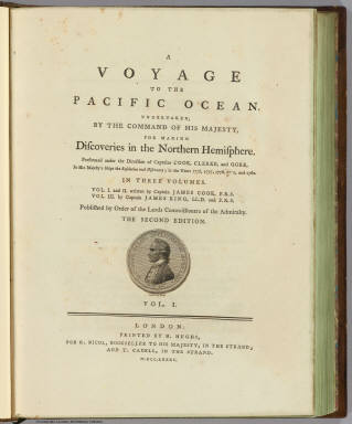 Title Page: Voyage to the Pacific Ocean, / Cook, James, 1728-1779; King, James / 1785