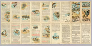 (Text Page to) The Northern Pacific R.R. The Yellowstone Park and dining car route to the Pacific Coast. Poole Bros. Printers and Engravers, Chicago.