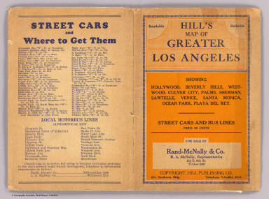 Cover: Los Angeles, California. / Hill Publishing Company; Hill, E. F. / 1928