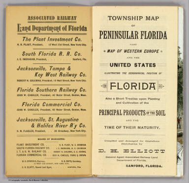 Title Page: Township map Florida.