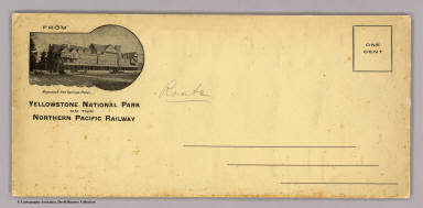 (Covers to) The Yellowstone National Park on the Northern Pacific Railway. (1898)