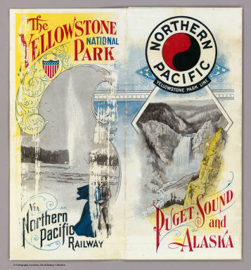 (Covers to) The Yellowstone National Park via Northern Pacific Railway. Northern Pacific, Yellowstone Park Line. Puget Sound and Alaska.