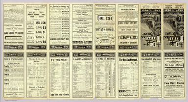 (Text Page to) Ohio and Mississippi Railway. St. Louis, Louisville, Cincinnati. Direct route between the east and west ... Jan. 1st., 1883. American Bank Note Company, 142 Broadway, New York.