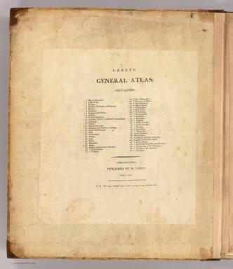 Title Page: Carey's general atlas. / Carey, Mathew / 1811