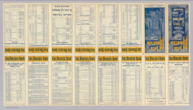 (Text Page to) Iron Mountain Route. Arkansas and Texas. St. Louis to San Francisco with but one change every day in the year. Times Eng. ... Form 1.-10-1-'86-C.D. Rand, McNally & Co., Printers, Chicago.