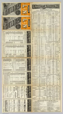 (Text Page to) South via the L&N Louisville & Nashville R.R. The L&N is unrivaled in speed, safety, construction and equipment. October, 1886. Courier Journal Eng. Courier-Journal Job Printing.