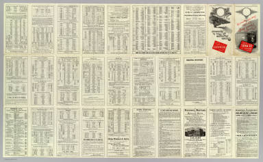 (Text Page to) Chicago Milwaukee and St. Paul Railway. Chicago, Milwaukee, St. Paul & Minneapolis ... Electric-lighted and steam-heated vestibuled trains. Rand, McNally & Co., Printers, Chicago.