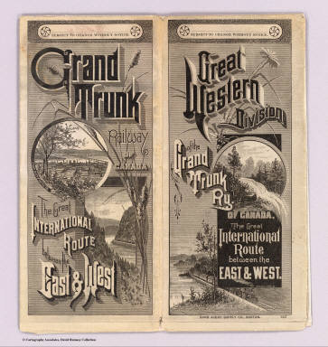 (Covers to) Great Western Division of the Grand Trunk Ry. of Canada, The Great International Route between the east & west. Rand Avery Supply Co., Boston. (1885?)
